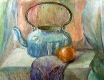 Pintura de la aún-vida de la acuarela Imagen de archivo libre de regalías