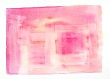 Pintura de la acuarela en el Libro Blanco imagenes de archivo