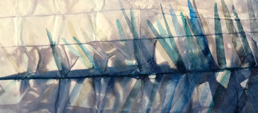 Pintura de la acuarela Fondo abstracto del papel arrugado Foto de archivo