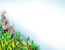 Pintura de la acuarela wildflowers Foto de archivo libre de regalías