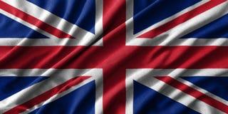 Pintura de la bandera de Reino Unido sobre el alto detalle de las telas de algodón de la onda libre illustration