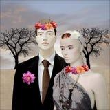 Pintura de la boda Fotos de archivo libres de regalías