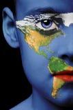 Pintura de la cara - América Imagen de archivo