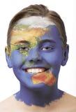 Pintura de la cara - Asia Imágenes de archivo libres de regalías