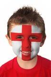 Pintura de la cara de la taza de mundo - Inglaterra Imagen de archivo libre de regalías