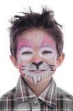 Pintura de la cara del conejo Imagen de archivo