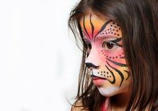 Pintura de la cara del tigre Foto de archivo libre de regalías