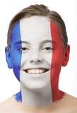 Pintura de la cara - indicador de Francia Imagen de archivo