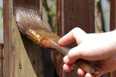 Pintura de la cerca de madera del jardín fotografía de archivo libre de regalías
