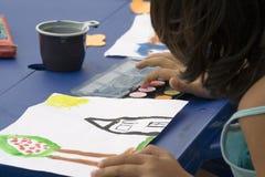 Pintura de la chica joven Fotografía de archivo
