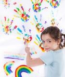 Pintura de la chica joven fotos de archivo libres de regalías