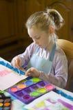 Pintura de la chica joven Fotografía de archivo libre de regalías