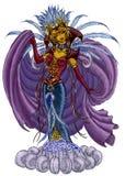 Pintura de la fantasía de una bruja Imágenes de archivo libres de regalías