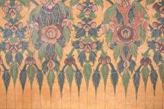 Pintura de la flor en la pared Imagen de archivo libre de regalías
