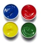 Pintura de la gama de colores de color del artista Fotos de archivo