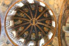 Pintura de la iglesia de Chora Foto de archivo libre de regalías