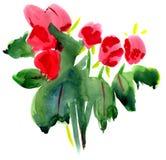 Flores de la pintura Fotos de archivo