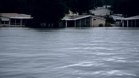 Pintura de la inundación después de un huracán metrajes
