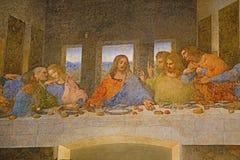 Pintura de la ?ltima cena imágenes de archivo libres de regalías