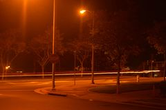 Pintura de la luz de calle Foto de archivo