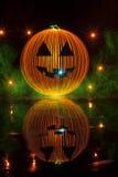 Pintura de la luz de la calabaza de Halloween Fotos de archivo libres de regalías