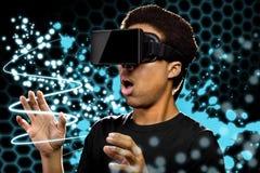 Pintura de la luz de la realidad virtual imagenes de archivo