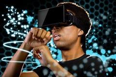 Pintura de la luz de la realidad virtual imágenes de archivo libres de regalías