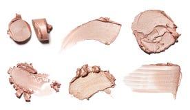 Pintura de la mancha de los productos del cosmético y de belleza Componga los accesorios Imágenes de archivo libres de regalías