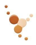 Pintura de la mancha de productos cosméticos Imagen de archivo libre de regalías