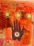 Pintura de la mano stock de ilustración
