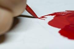 Pintura de la mano Fotos de archivo libres de regalías