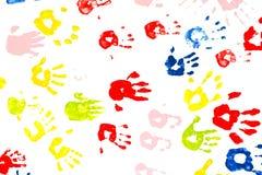 Pintura de la mano. Fotografía de archivo libre de regalías
