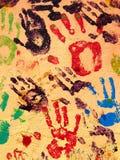 Pintura de la mano Fotografía de archivo