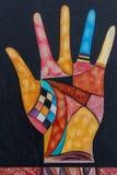 Pintura de la mano, estilo vanguardista imagenes de archivo