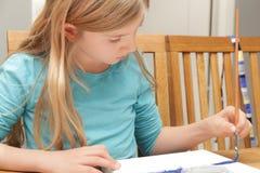 Pintura de la muchacha Imágenes de archivo libres de regalías