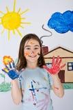 Pintura de la muchacha Fotos de archivo libres de regalías