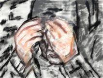 Pintura de la mujer de la tiza Foto de archivo