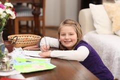 Pintura de la niña Fotos de archivo libres de regalías