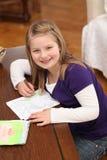 Pintura de la niña Imágenes de archivo libres de regalías