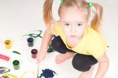 Pintura de la niña fotografía de archivo libre de regalías