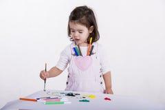 Pintura de la niña fotografía de archivo