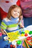 Pintura de la niña Imagenes de archivo