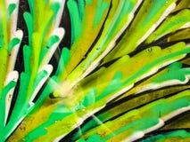 Pintura de la opinión del detalle de la planta tropical stock de ilustración