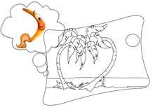 Pintura de la palma Imágenes de archivo libres de regalías