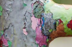 Pintura de la peladura Capas coloreadas Imagen de archivo libre de regalías