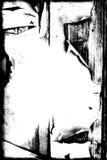 Pintura de la peladura de Grunge en la frontera/el fondo de madera Stock de ilustración
