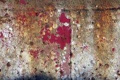 Pintura de la peladura en el fondo de acero Foto de archivo libre de regalías