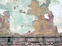 Pintura de la peladura en la pared fotografía de archivo libre de regalías