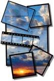Pintura de la puesta del sol Imágenes de archivo libres de regalías