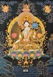 Pintura de la religión tradicional de Tíbet Imágenes de archivo libres de regalías